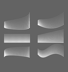 Design lines of dots background vector