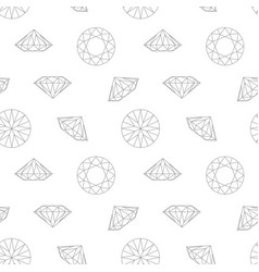 diamond concept seamless pattern vector image