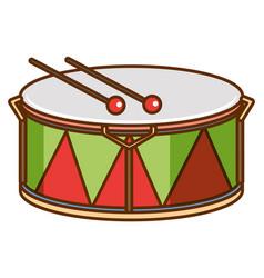Drum on white background vector
