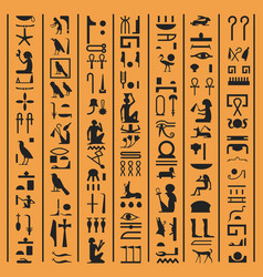 Egyptian hieroglyphs or ancient egypt letters vector