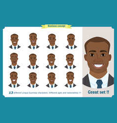 face expressions of a man black american vector image