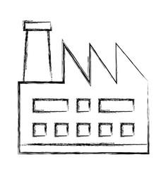Factory plant building icon vector