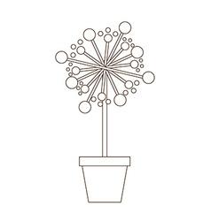 flowerpot icon vector image