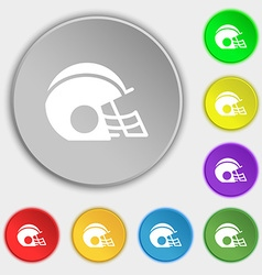 football helmet icon sign Symbol on eight flat vector image