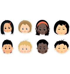 funny kids icons vector image