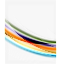 Glossy wave on white space vector image