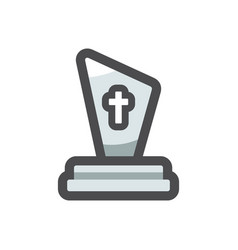 grave old tomb icon cartoon vector image
