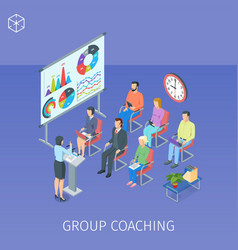 Group coaching in training centre vector