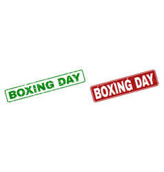 Grunge boxing day stamp seals with rounded vector