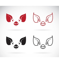 Image of an pig head vector