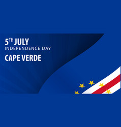 Independence day of cape verde flag and patriotic vector