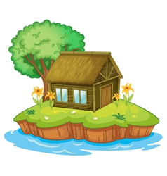 Island accommodation vector