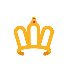 Isolated queen purple and gold crown design vector