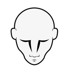 man head isolated vector image