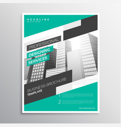 modern creative business leaflet template in a4 vector image