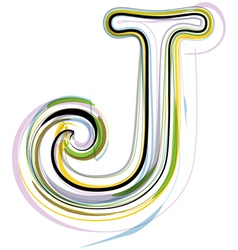 Organic Font letter j vector