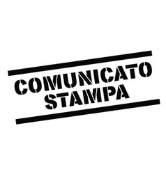 Press release stamp in italian vector