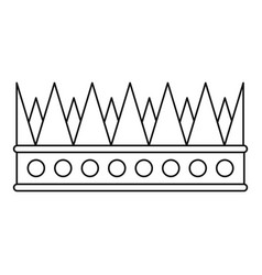 Regal crown icon outline style vector