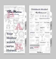 restaurant or cafe menu vintage design template vector image