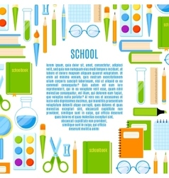 School frame with supplies design vector image