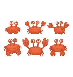 set crabs vector image