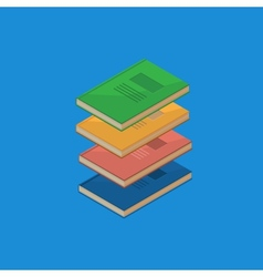 Set of 4 isometric books vector image