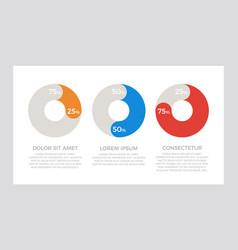 set orange blue and red elements for vector image