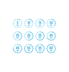 set timers sign icon full rotation arrow timer vector image