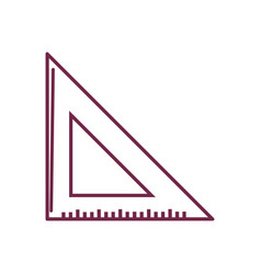 Silhouette triangle ruler tool to study vector