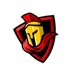 Sparta sport gaming mascot logo template vector