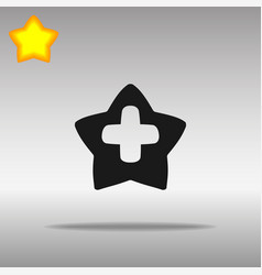 Star cross medicine black icon button logo symbol vector