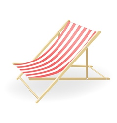 Striped sunchair vector