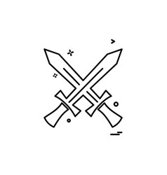 swords icon design vector image