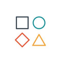 Template simple linear geometrical logo vector