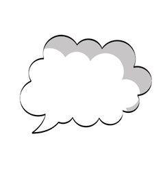 text balloon icon vector image