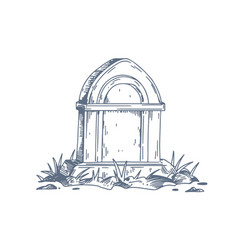 Tombstone unmarked vintage grave gravestone vector