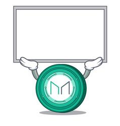 Up board maker coin character cartoon vector