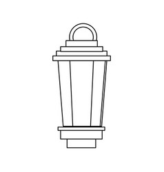 Vintage lamp street decoration outline vector