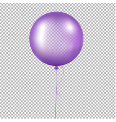 violet balloon vector image