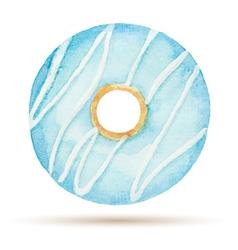 Watercolor donuts vector image