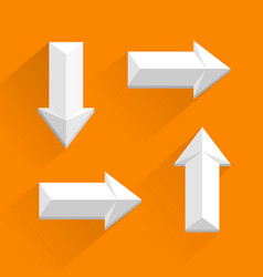 White arrows different directions vector