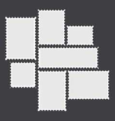 blank mailing postal vector image