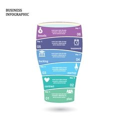 Business startup idea concept with 6 options vector image