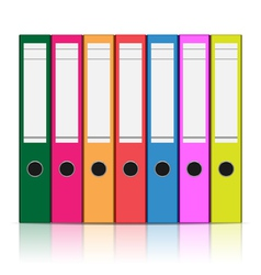 clerical folder vector image vector image
