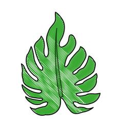 color blurred stripe image irregular green leaf vector image vector image