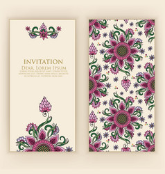 Invitation or wedding card with vector