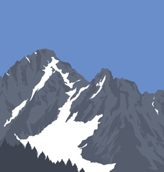 Snow capped mountains vector