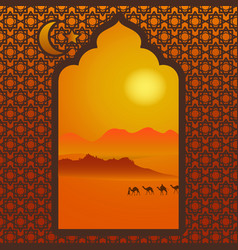 arabic window vector image vector image