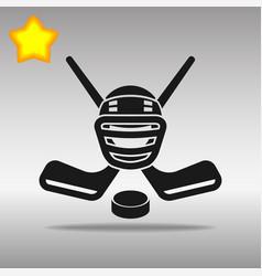 hockey black icon button logo symbol vector image vector image