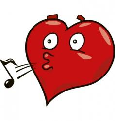 laidback heart vector image vector image